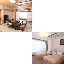 【和洋室】一例/広々とした落ち着いた和室と大きく取られた窓から自然が溢れる洋室があるお部屋です。