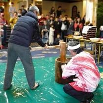 【館内イベント】年始恒例餅つき(画像は2016年)