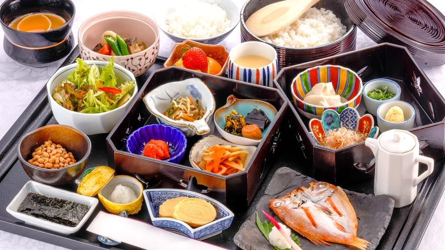 写真は和食です。和食もしくは洋食からお選びいただけます。