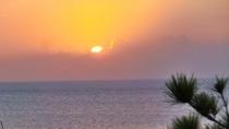 にらい恩納からの夕日
