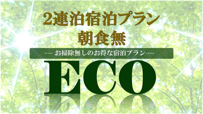 【ECO・2連泊】お掃除無し!宿泊プラン☆【素泊まり】