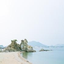 天神岩と蓬莱岩