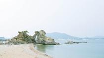 天神浜と蓬莱岩
