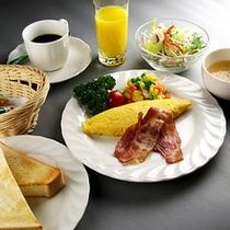 ■朝食■オムレツのタイプになります