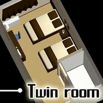 ■ツインルーム■室内のイメージです
