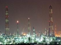 水島工業地帯 夜景