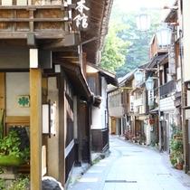 ■渋温泉の通り