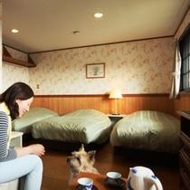 客室-トリプル☆2~3名様でご利用になれます