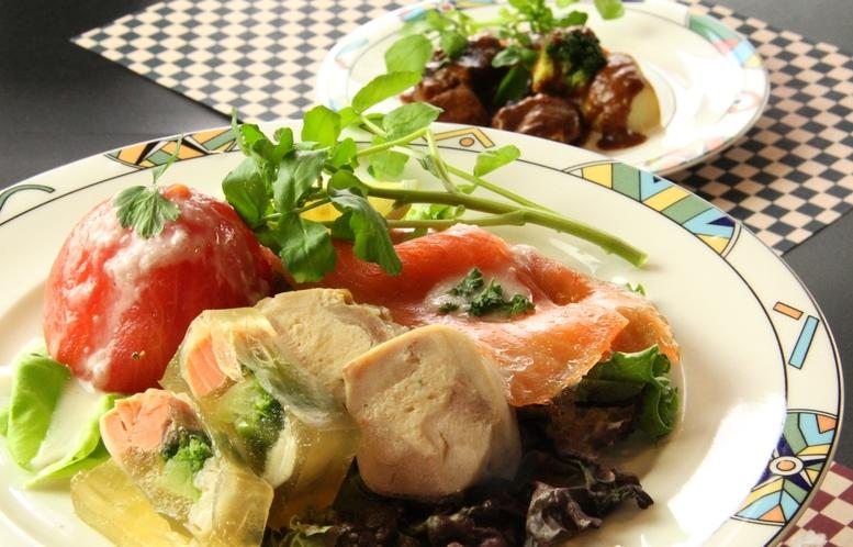 和食夕食♪トマトのツナマヨサーモンカルパッチョ
