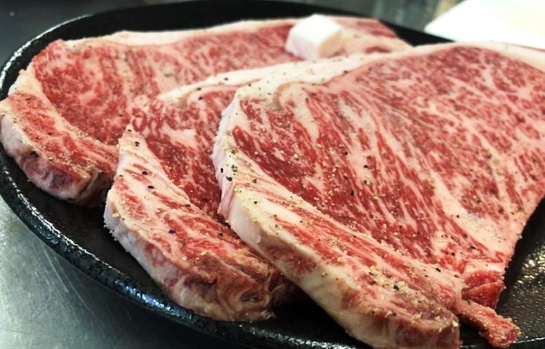 メイン料理を<信州牛 サーロインステーキ 200g>