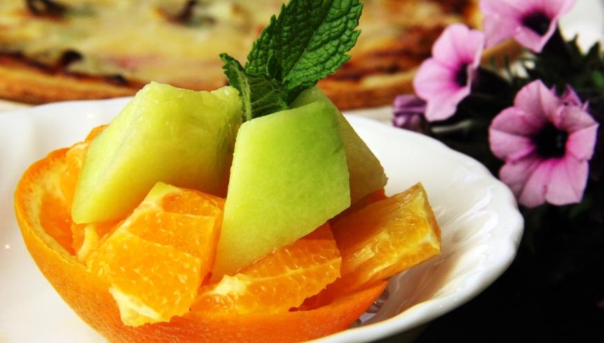 イタリアン夕食♪季節のフルーツ