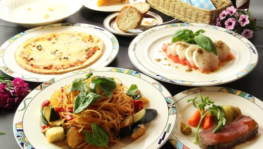 イタリアンの夕食♪おまかせメニューになります