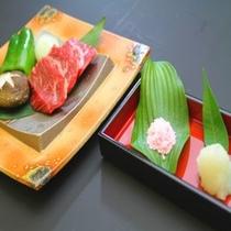 熊野牛のステーキ