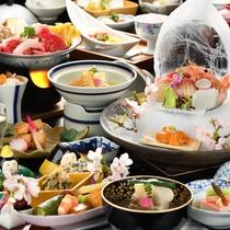 春のお食事イメージ(特別室クラス)