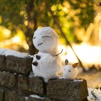 雪だるまがお出迎え♪