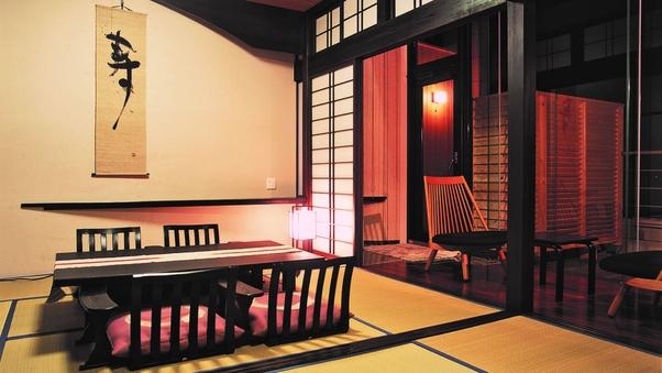 【和室】太平洋一望の露天付客室(6帖+6帖)