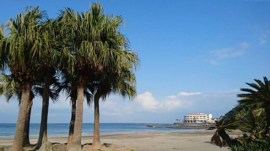 白浜海水浴場から見た景色