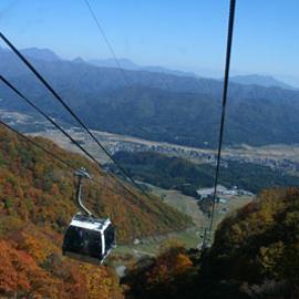 白馬五竜ゴンドラからの紅葉は絶景です。