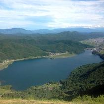 ◇小熊山より望む木崎湖
