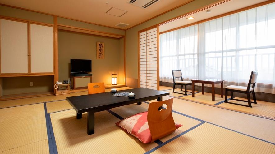 【東館】和室(一例) 当館中央にあり、平成22年に増室、リニューア