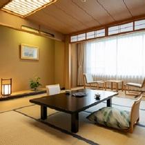 花館客室一例(禁煙)窓から広がる津軽の景色に感動。四季折々の魅力を楽しんで♪