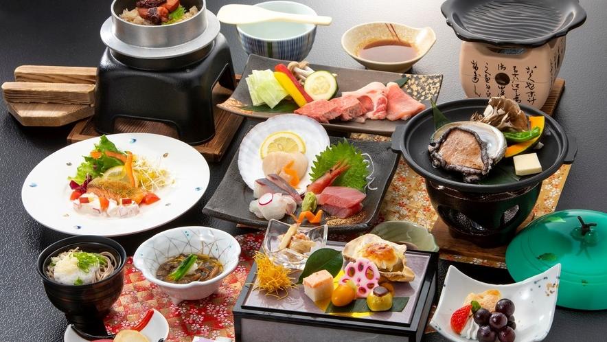 和食膳の一例※写真はイメージです。仕入状況によりメニューが変更となる場合がございます。