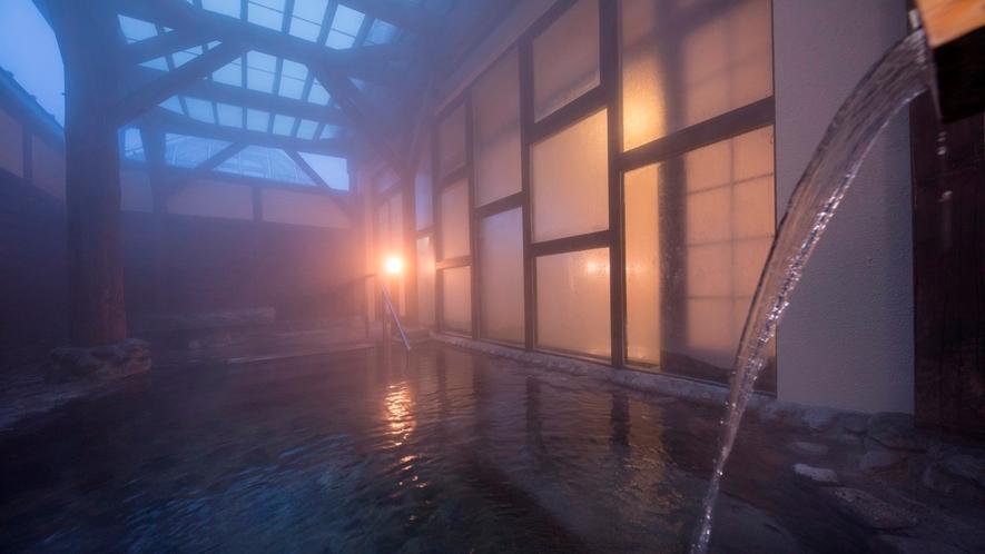 満天の風呂(夜景)