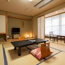 東館和室(一例) 当館中央にあり、平成22年に増室、リニューアル