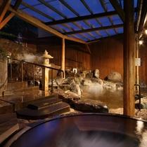 【西湯】露天岩風呂全景