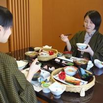 【朝食】朝から種類が豊富な和定食♪♪