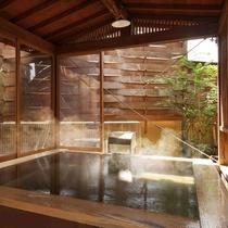 【東湯】枡風呂は源泉かけ流し