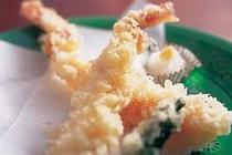 カニ天婦羅、カニ味噌豆腐付き
