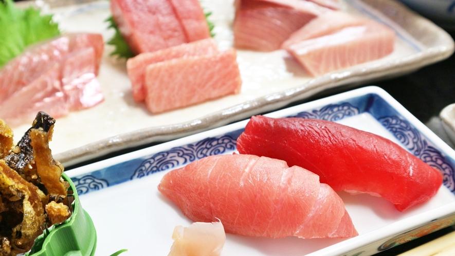 *【夕食一例】天然まぐろの握り寿司。