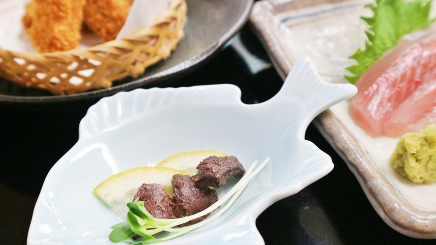 *【夕食一例】マグロの心臓焼き。口に入れた瞬間に旨味が広がります。
