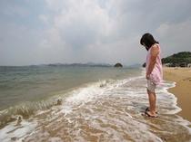 白石島海水浴場・子供1