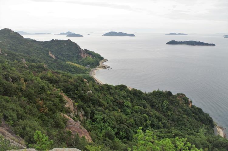 島内トレッキングコースからの眺め