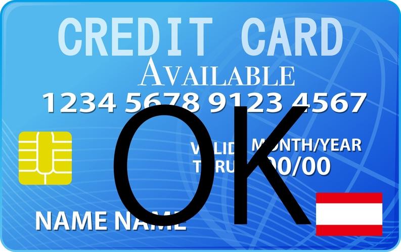 現地でクレジットカード利用可能です