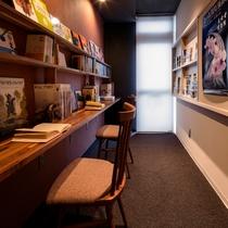【ライブラリー】京都の観光情報や、各種雑誌・お子様向けの絵本も取り揃えております。