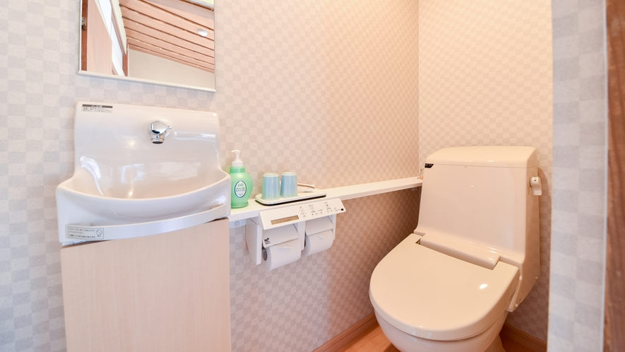 【*和室(バスなし)】トイレは全室リニューアル済み、洗浄機付です。