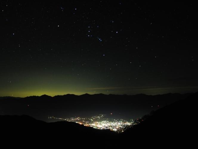 千畳敷からの夜景
