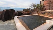 松本平、北アルプスを望む絶景の露天部