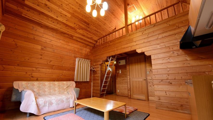 *【ログハウス/さくら亭中央】ペットもご宿泊可能のお部屋です。
