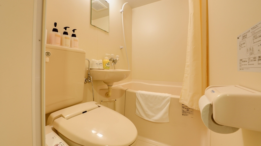 *【本館/ツイン】客室にはバス・トイレを完備しております。