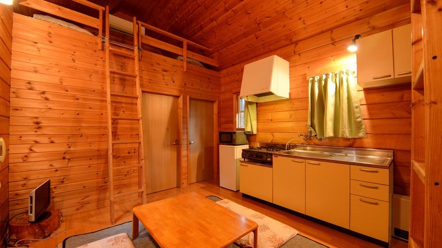 *【ログハウス/N】プチ別荘気分を味わえる、一棟貸切のログハウスです。