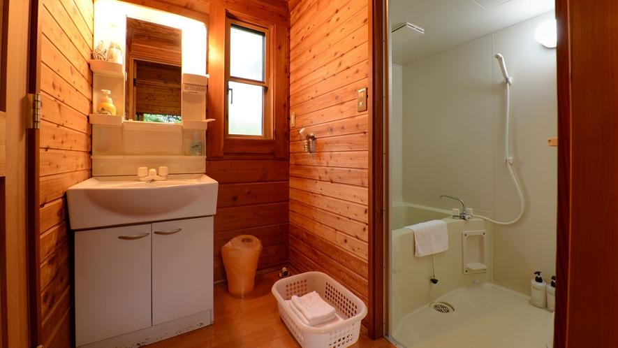 *【ログハウス/さくら亭中央】タオル類はお部屋に備え付けがございます。