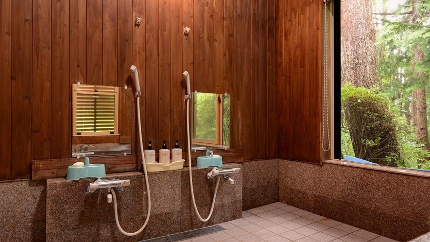 *【浴場(男湯)】洗い場は2つご用意しております。アメニティもございます。