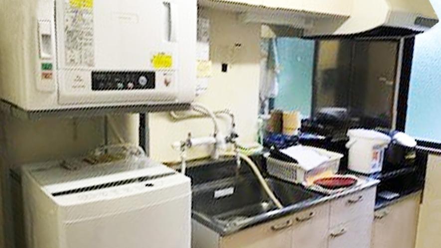 *本館3F 共同キッチン&洗濯機はご自由にご利用OK!ワーケーション・長期滞在にもおすすめ