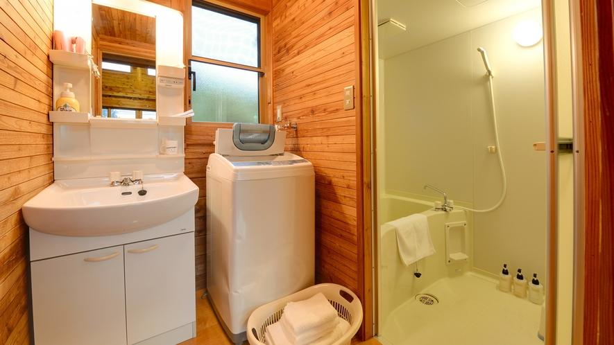*【ログハウス/E】洗面台完備・洗濯機もご自由にご利用いただけます。