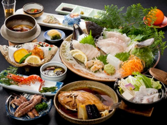 『おまかせ海鮮尽くし』 - 12~13品、スタンダードな海の幸料理