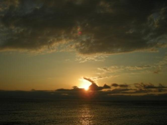 夕刻時には、伊勢湾に沈む美しい夕陽を眺めることも出来る